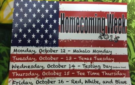 Homecoming Week Dress Schedule