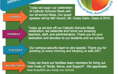 A Week of Appreciation:  An Overview of Catholic Schools Week