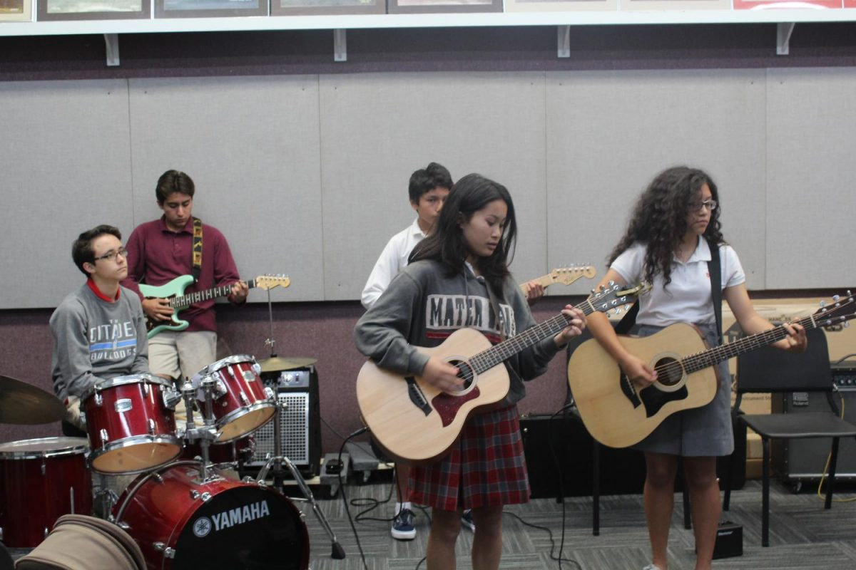 Block 4 students practice the song