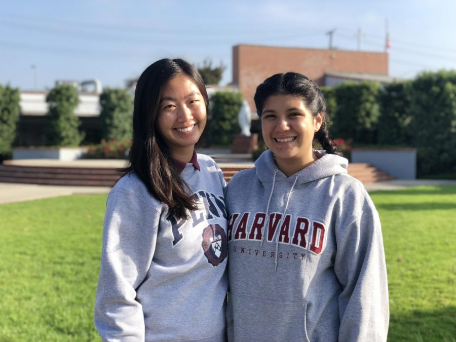 Seniors Angel Zhu and Miranda Vazques, both Homecoming princesses, will walk in the court ceremony this Friday alongside their mothers.