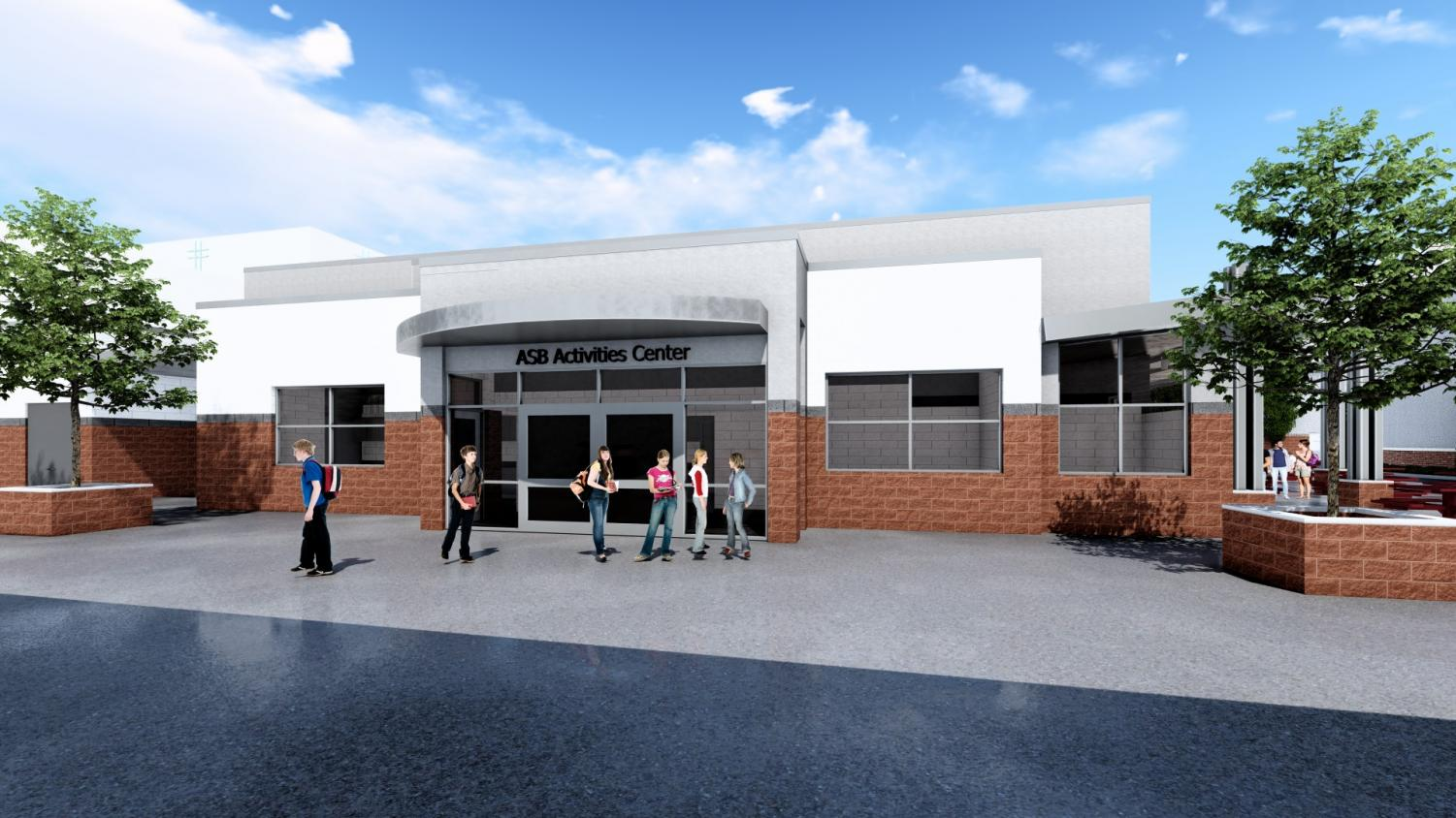 TIME FOR AN UPGRADE: The new design for the expansed Carol Ann LaRosa ASB Center includes a larger space for ASB students and other student activities to utilize.