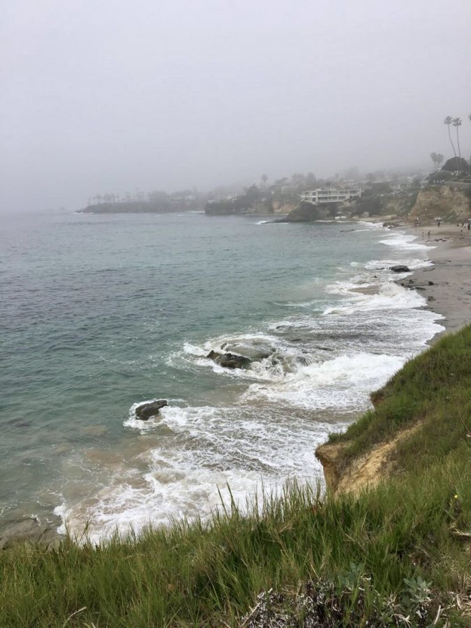 The view from Inspiration Point in Newport Beach features beautiful coastal views that are popular with Mater Dei students as a pre-prom photo backdrop.