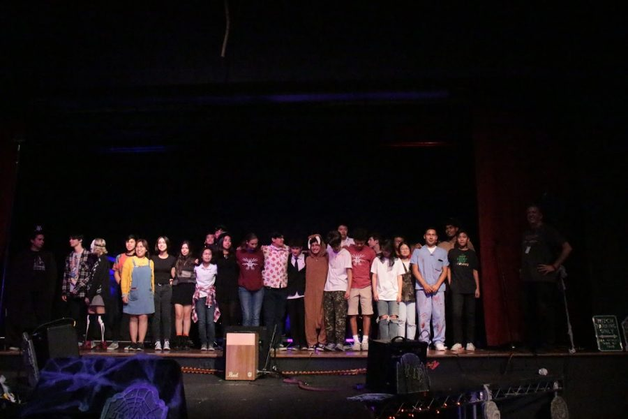 On October 30, the performing arts program puts on a Mystery Haunted House Experience in the Little Theatre. Students performed various songs as a fundraiser for the guitar program.