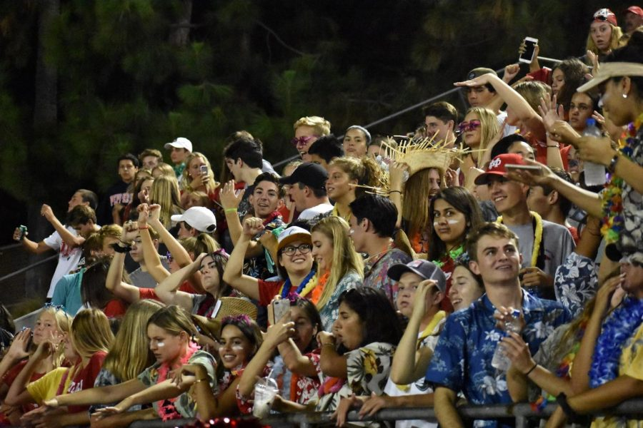 PLEASE DON'T STOP THE MUSIC: The packed student section jams to a variety songs, from NSYNC, One Direction and more, at the Bishop Amat football game at Santa Ana Stadium on Aug. 17.