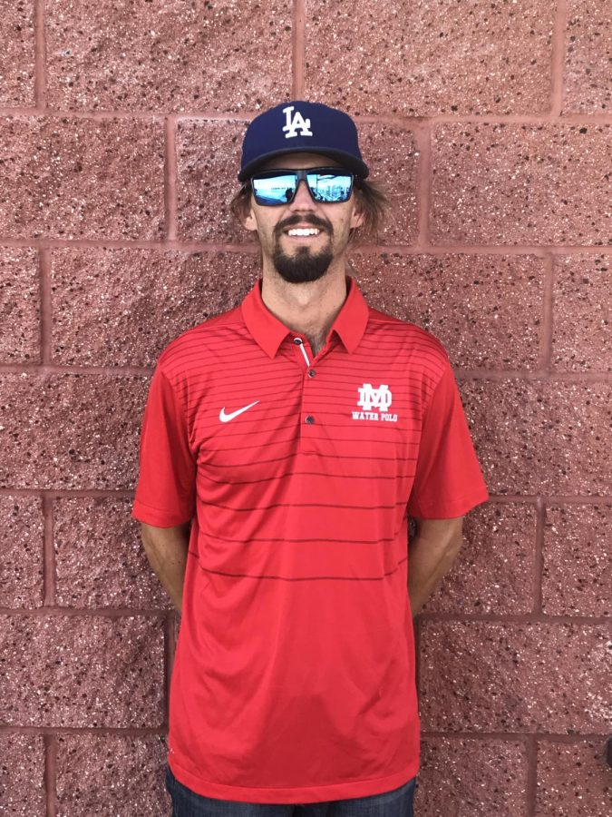 Brian Anderson is the school's new water polo coach.