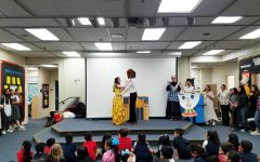 ASL III students perform for students in Taft Elementary's deaf and hard-of-hearing program