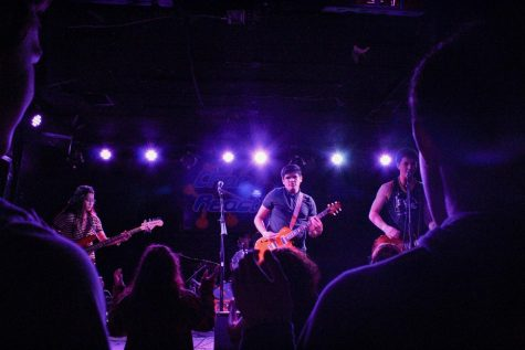 THE CROWD GOES WILD Generator performs covers of songs by bands Alexisonfire and My Chemical Romance at their performance at the Chain Reaction live music venue in Anaheim on March 9.