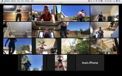 "NO GYM NO PROBLEM: Friends and classmates meet together virtually for the daily workout. Natasha Hill leads Tabata body weight workouts three to four days a week for an hour. Natasha Hill  ""I joined the Zoom workouts because Natasha asked a bunch of us if we would be interested...I said yes because I wanted to exercise with a group of friends to have that support when working out."" Senior Lexi Tanghal said."