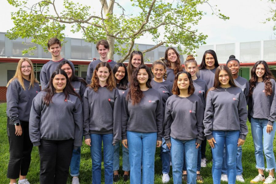 "NEWSPAPER STAFF: The Scarlet Scroll team works together to produce every story, photo package, and newsmagazine that you can see. Through collaboration of both editors and staff reporters, these students put in the hard work to put out the most entertaining work for the audience. ""I"